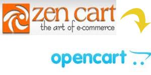 zen cart to opencart migration change